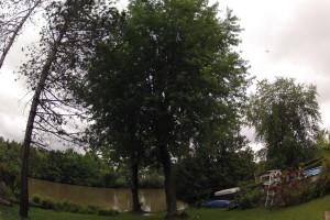 Émondage au bord de la Rivière Magog