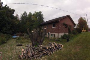 Abattage près d'un raccordement électrique à Fleurimont